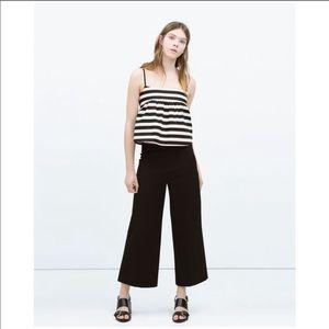 Zara Black High Waist Wide Leg Pants
